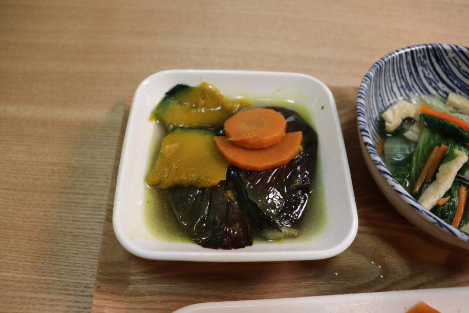 茄子、ニンジンとかぼちゃの揚げ煮